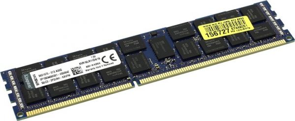 16GB память Kingston  1600MHz DDR3L ECC Reg CL11 DIMM DR x4 1.35V w/TS