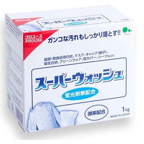 Mitsuei Мощный стиральный порошок с ферментами для стирки белого белья, 1 кг