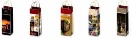 Сумки подарочные 12х36 см (10 шт.) ламинированные (под бутылку)