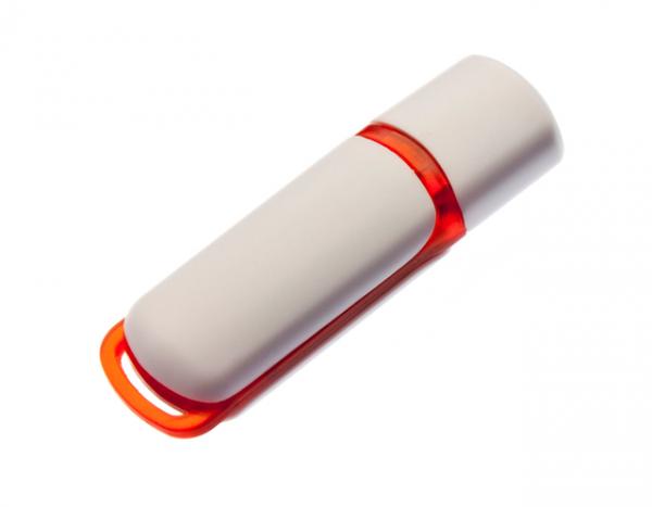 64GB USB-флэш корпус для флешки UsbSouvenir 235, белая-оранжевая