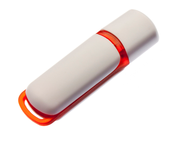 32GB USB3.0-флэш накопитель UsbSouvenir 235, белая-оранжевая