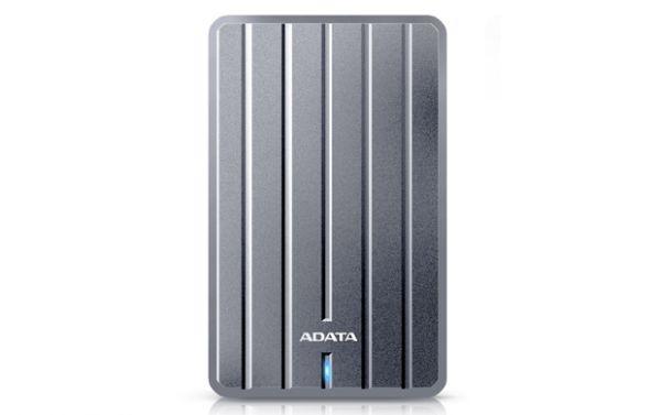 1TB внешний жесткий диск USB 3.0 ADATA HC660 тонкий металл. корпус (9.6мм), цвет титановый
