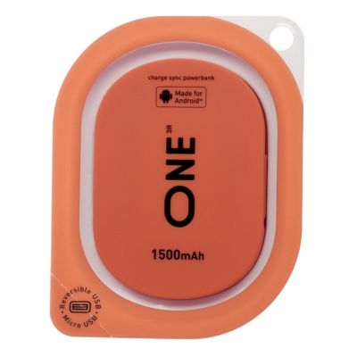 Портативное зарядное устройство ONE кораллового цвета для Android 1500mah