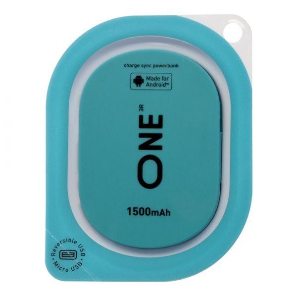 Портатитвное зарядное устройство ONE бирюзового цвета для Android