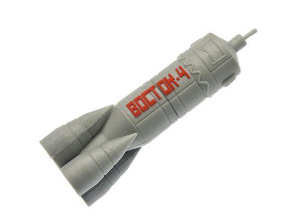 4GB USB2.0 флеш накопитель UsbSouvenir Сувенирная флэшка ракета из резины