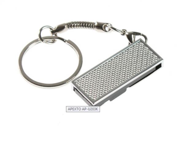 64GB USB-флэш накопитель Apexto U203K металлический раскладной, серебряный