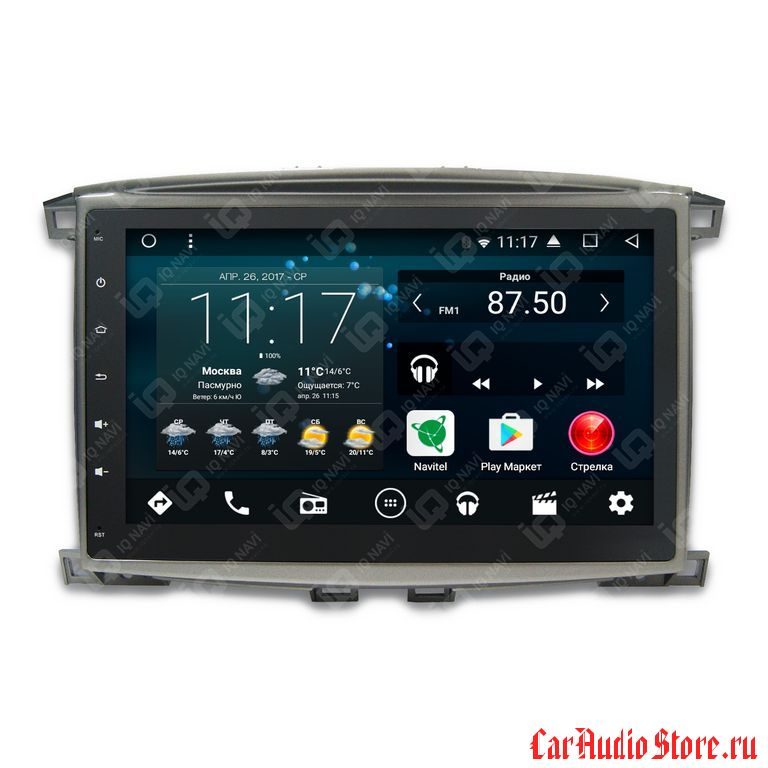 IQ NAVI T58-2908 TOYOTA LAND CRUISER 100 (2002-2007) ANDROID 7.1.2 OCTA-CORE (8 ЯДЕР) 10,1""