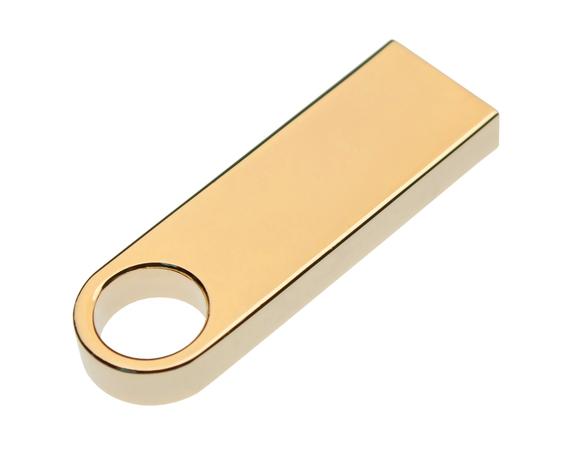 32GB USB-флеш корпус для накопитель Apexto U904A металлический брелок золотой матовый