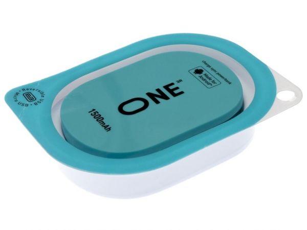 Портатитвное зарядное устройство ONE бирюзового цвета для Apple
