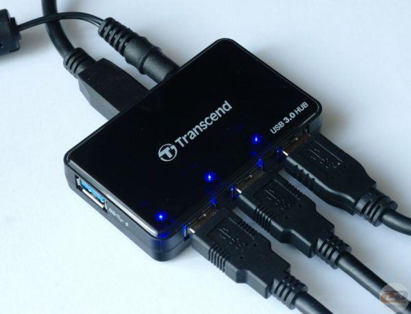 USB3.0 универсальный хаб на 4 порта с функцией ускоренной зарядки Transcend