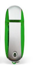 64GB USB-флэш корпус для флешки UsbSouvenir U204, Зеленый  серебро