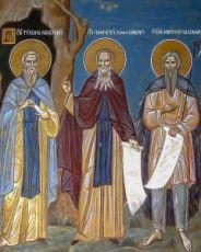Икона Тихон, Лаврентий  Калужские и Пафнутий Боровский