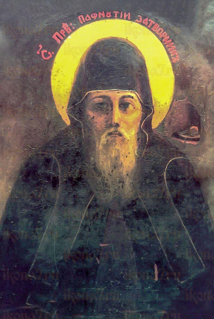 Икона Пафнутий Печерский (копия старинной)