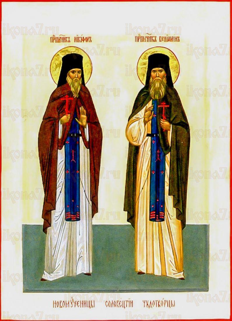 Икона Никифор и Вениамин Соловецкие