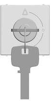 Выкл. с ключом на 3 полож., с фикс., 2 мод ABB NIE Zenit Бел