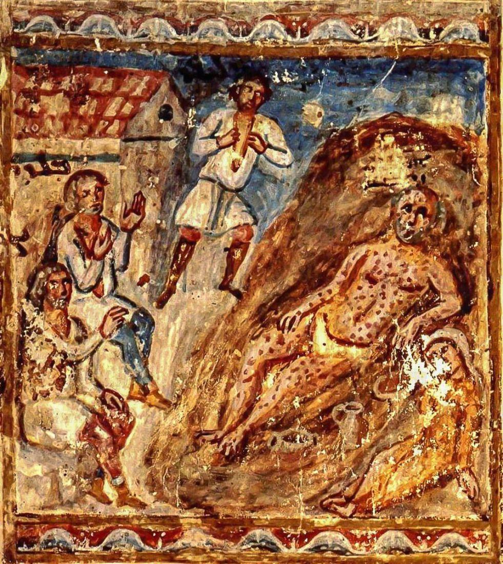 Икона Иов Многострадальный (копия старинной)
