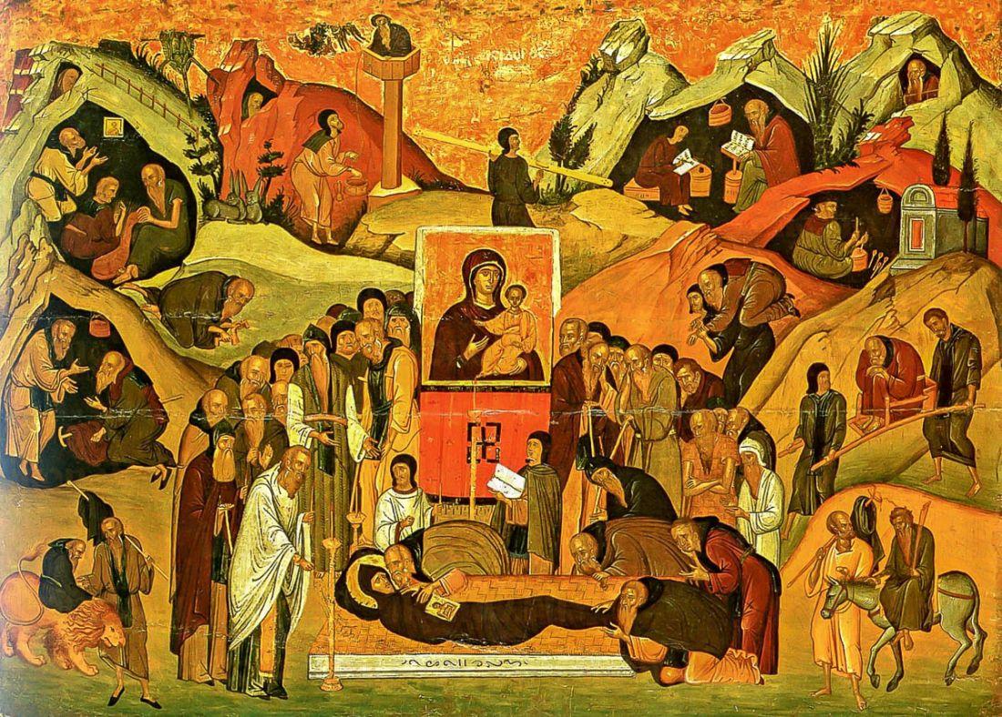 Ефрем Сирин (копия иконы 14 века)