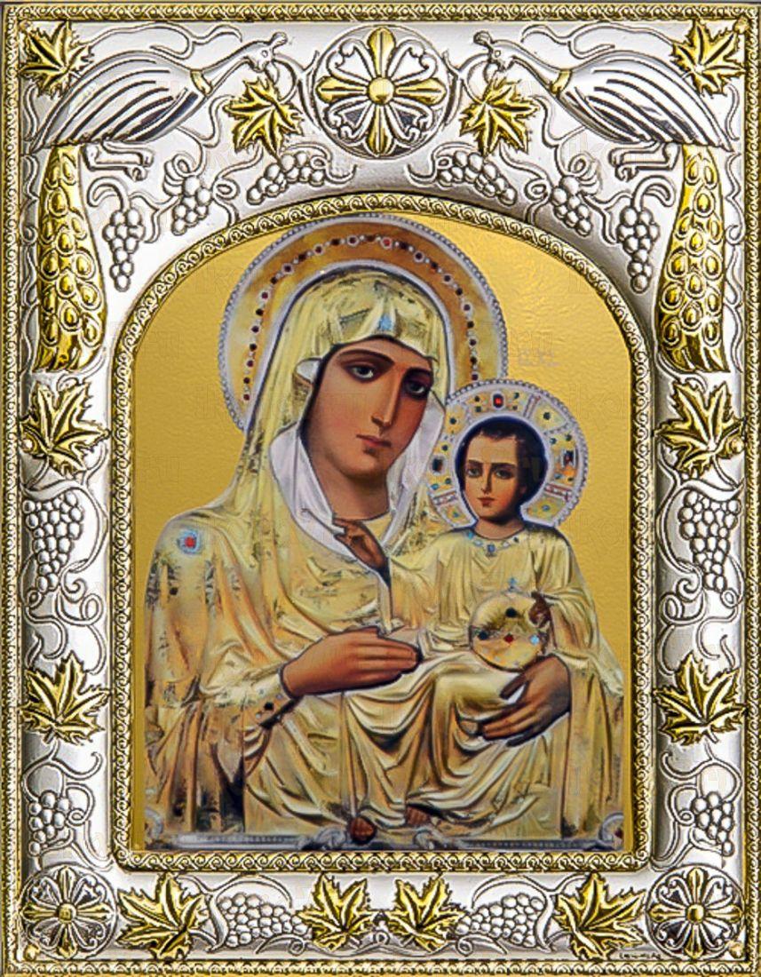 Иерусалимская икона БМ (14х18), серебро