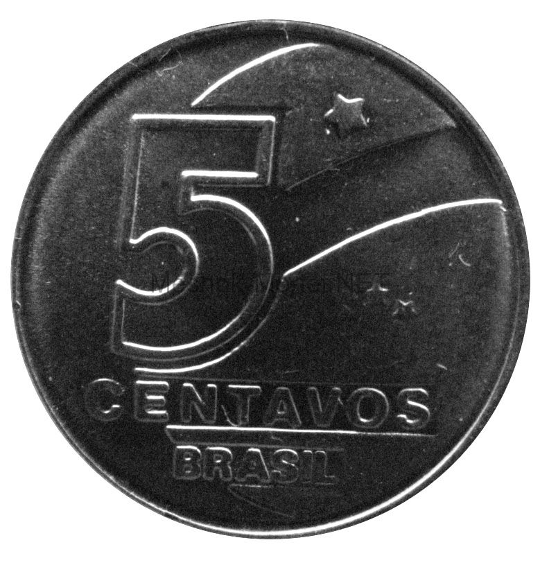 Бразилия 5 сентаво 1989 г.