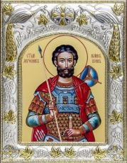 Иоанн Воин (14х18), серебро