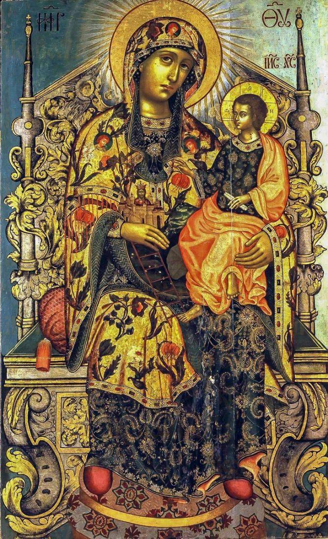 Икона Гора Нерукосечная (копия 17 века)