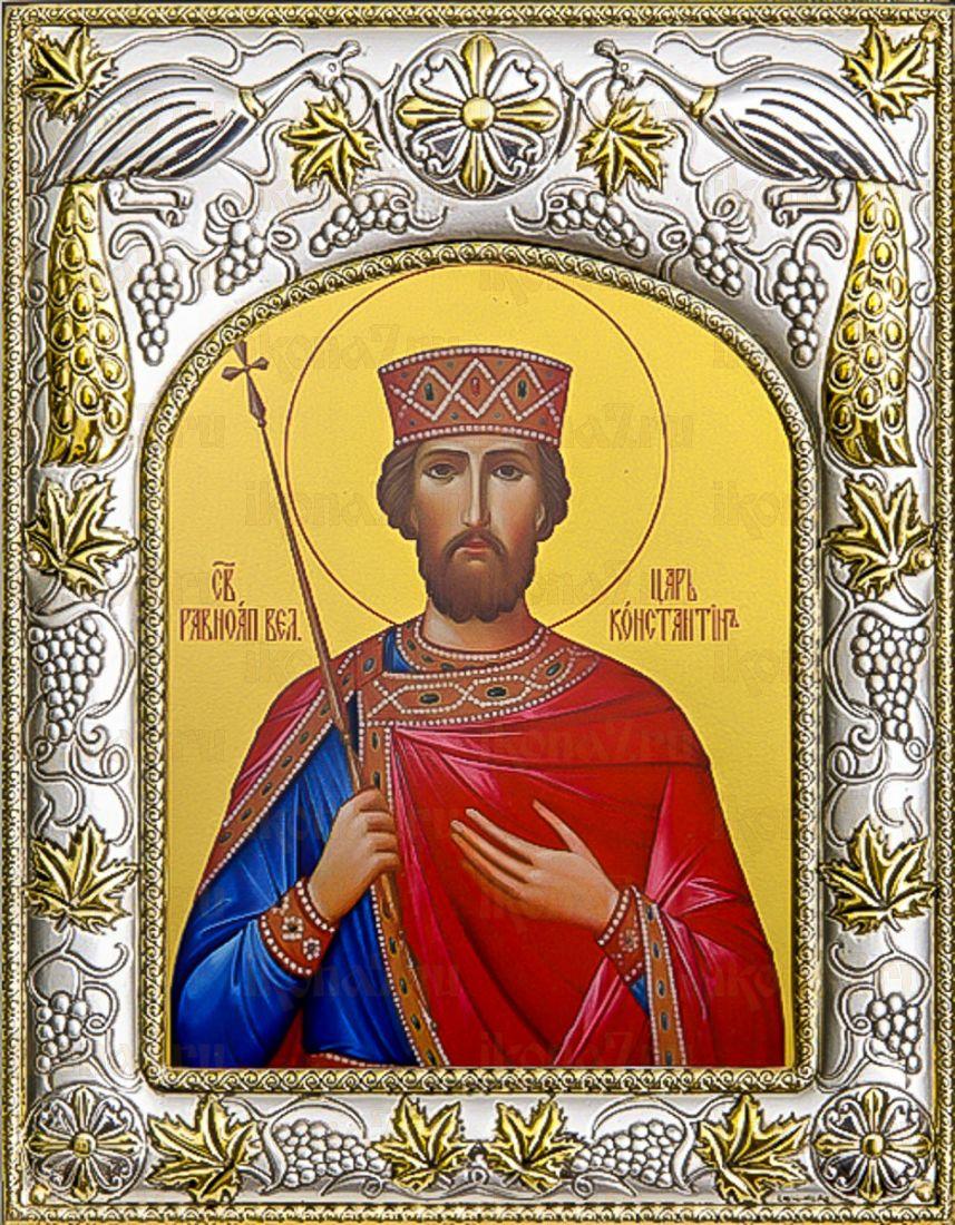 Константин Великий (14х18), серебро