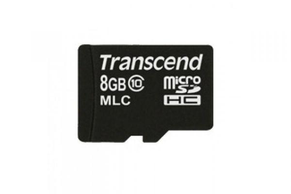 8GB Карта памяти MicroSDHC Class 10 MLC Industrial Transcend