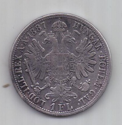 1 флорин 1887 г. Австрия