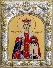 Людмила Чешская (14х18), серебро