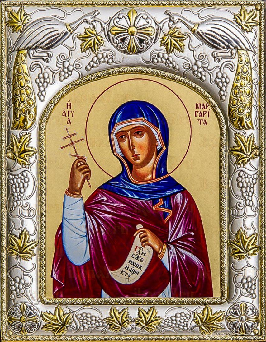Маргарита Антиохийская (14х18), серебро