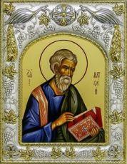Матфей, апостол (14х18), серебро