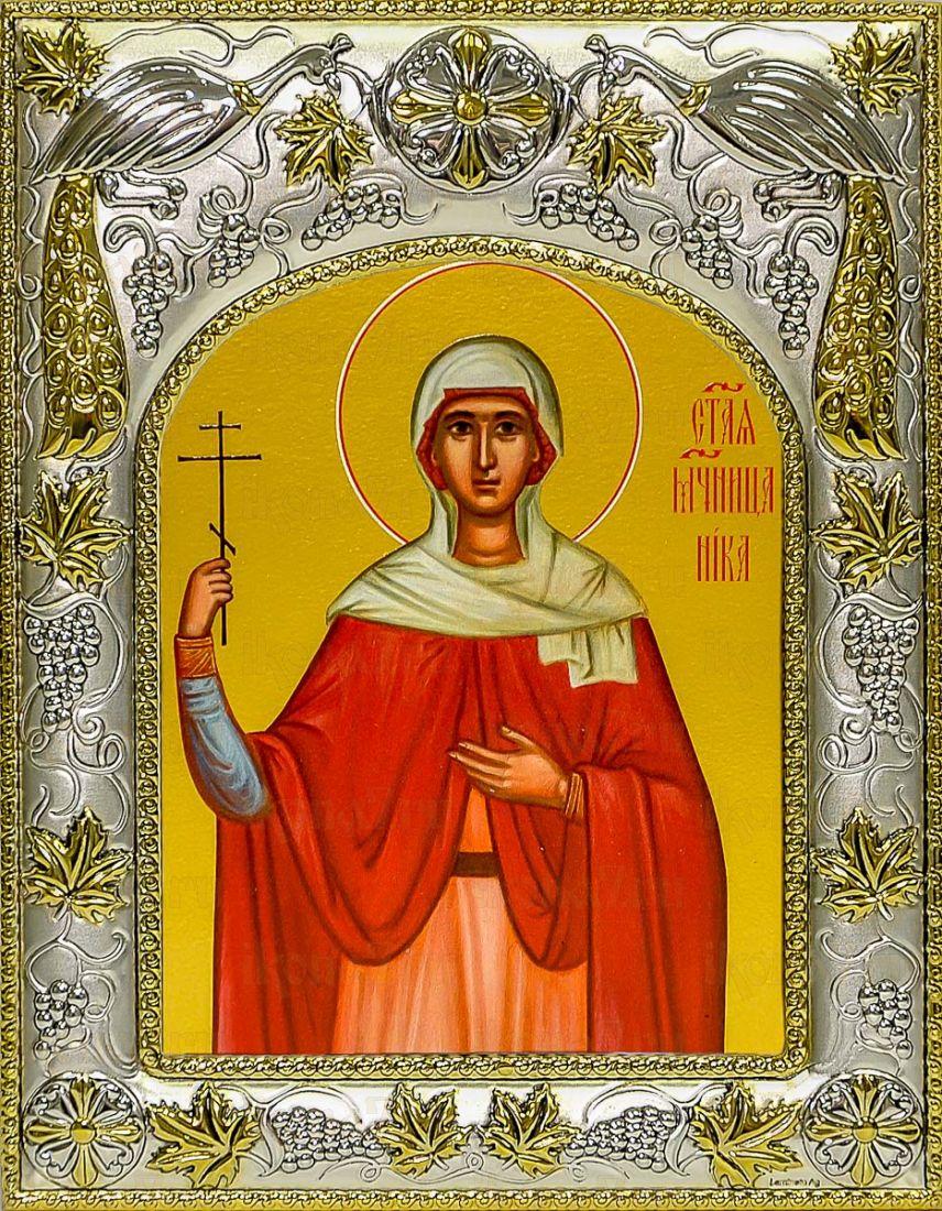 Ника Коринфская (14х18), серебро