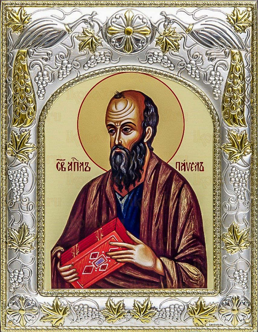 Павел, апостол (14х18), серебро