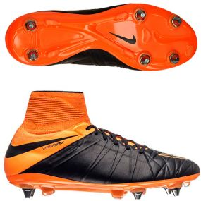 Бутсы Nike HyperVenom Phantom II Leather SG-PRO чёрные