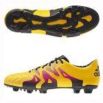 Бутсы adidas X 15.1 Leather FG/AG жёлтые