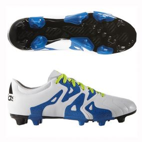 Бутсы adidas X 15.3 Leather FG/AG белые