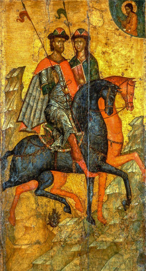 Икона Борис и Глеб (копия 14 века)