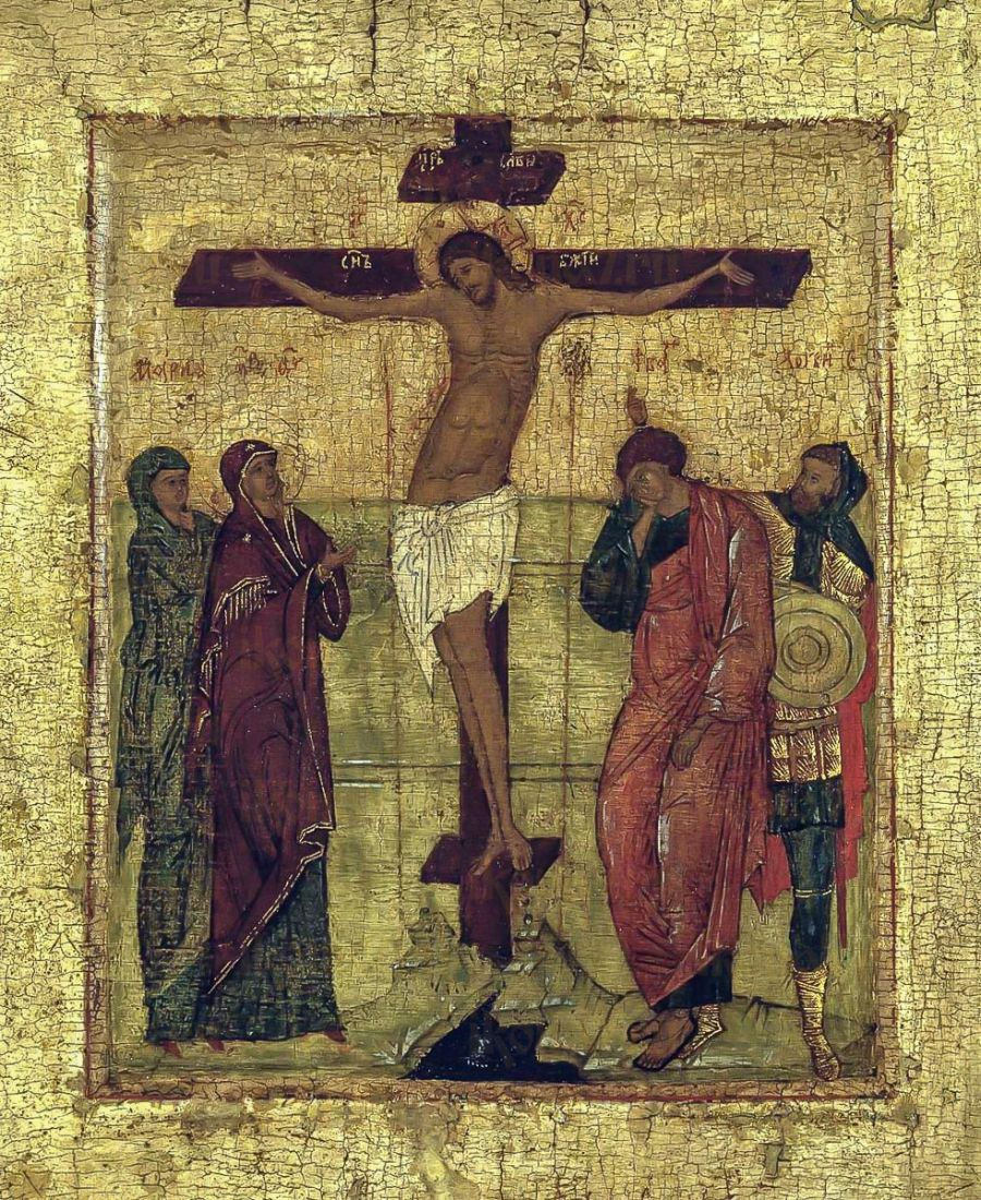 Икона Распятие Христа (копия 16 века)