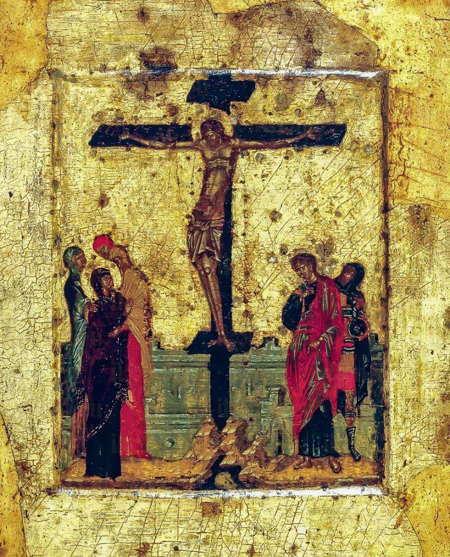 Икона Распятие Христа (копия 14 века)