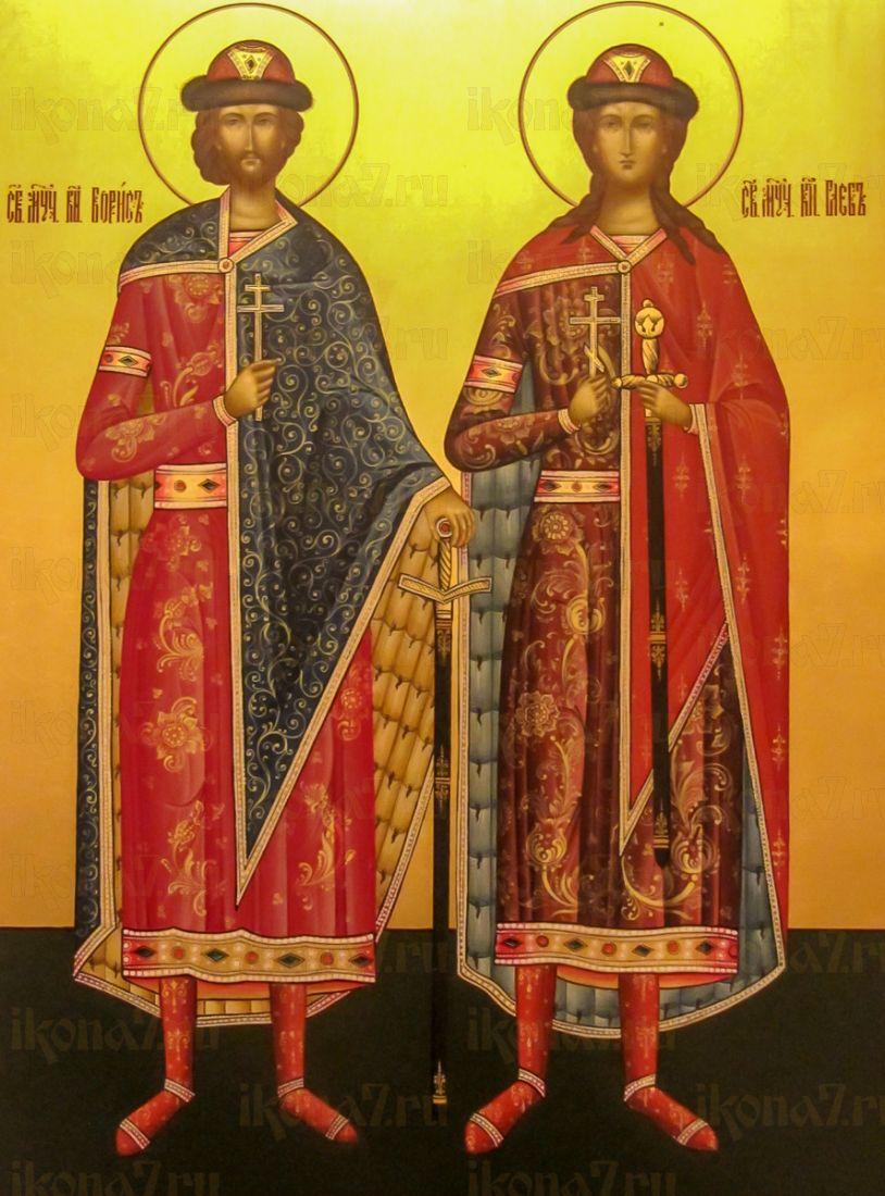 Икона Борис и Глеб