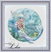 """Схема для вышивки крестом """"Дитя океана""""."""