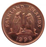 Фолклендские острова 1 пенни 1998 г.