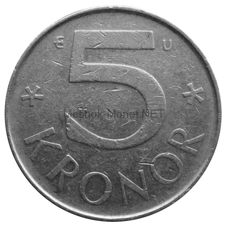 Швеция 5 крон 1983 г.