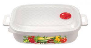 ...Контейнер для холодильника и микров. печи с декором  1,6л