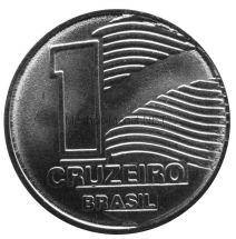 Бразилия 1 крузейро 1990 г.