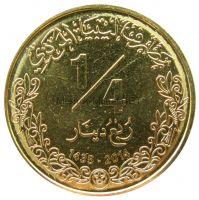 Ливия 1/4 динара 2014 г.