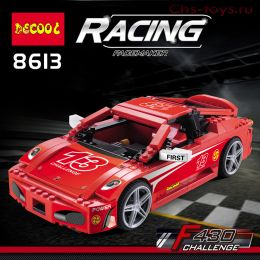 Конструктор Decool Speed Феррари F430 8613 (Аналог LEGO Speed 8143) 512 дет