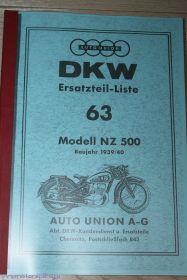 Каталог з/ч DKW NZ 500