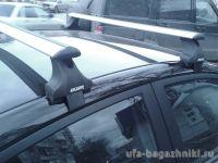 Багажник на крышу Hyundai Solaris (c 2017г, sedan), Атлант, крыловидные дуги, опора Е