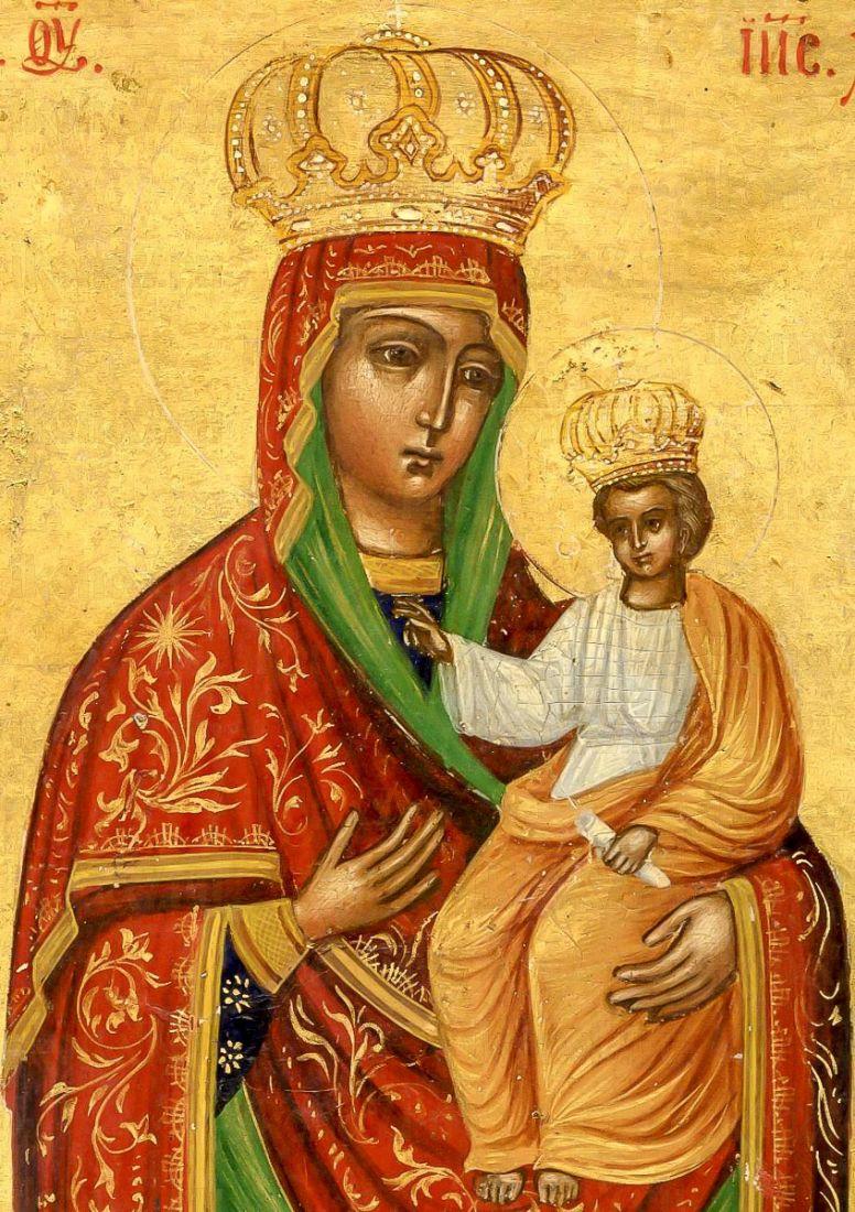 Ильинско-Черниговская икона Божией Матери (копия старинной)